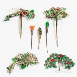 Seven Hairpin Ornaments