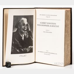 Einstein, Albert (1879-1955) Albert Einstein Philosopher-Scientist,   Signed.