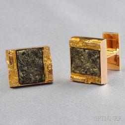 14kt Gold Cuff Links, Bjorn Weckstrom, Lapponia
