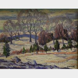 Edgar Otis Miner  (American, 1915 - 2003)      Snowy Field