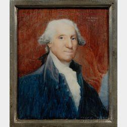 Italian School Portrait Miniature of George Washington