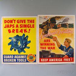 Two General Motors U.S. WWII War Effort Posters