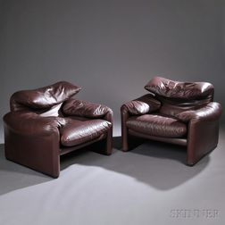 Two Vico Magistretti Maralunga Chairs