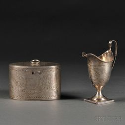 Two George III Sterling Silver Items