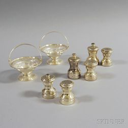 Eight Small Pieces of Sterling Silver Tableware