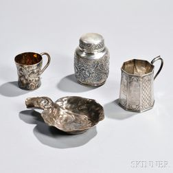 Four Pieces of American Silver Tableware