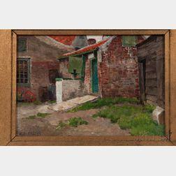 Frans van Leemputten (Belgian, 1850-1914)      Zicht Te Axel, Holland