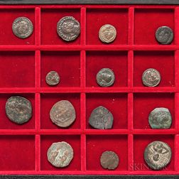 Fourteen 1st to 3rd Century Roman and Byzantine Coins.     Estimate $100-150