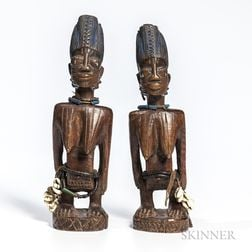 Two Female Ibeji Figures