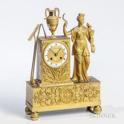 Empire Gilt-bronze Mantel Clock