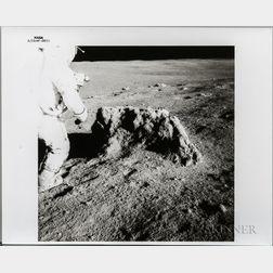 Apollo 14, Alan Shepard Beside a Large Boulder.