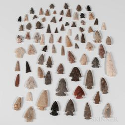 Large Collection of Prehistoric Arrowheads