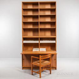 Borge Mogensen for Karl Andersson & Soner Øresund Oak Cabinet, Drop-front Desk, Bookshelves, and Asserbo Chair