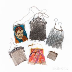 Six Vintage Mesh Purses