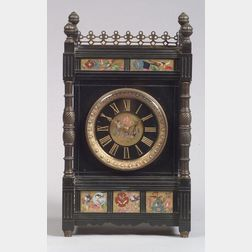 French Aesthetic Movement Slate Mantel Clock