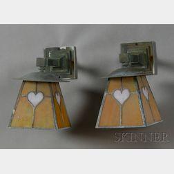 Pair of Arts & Crafts Wall Lanterns