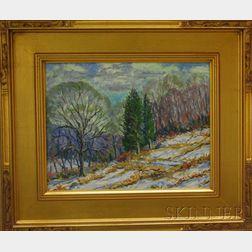 Edgar Otis Miner (American, 1915-2003)      Winter Landscape.
