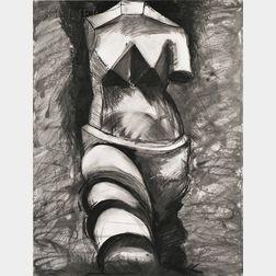 Jim Dine (American, b. 1935)      Black and White Cubist Venus