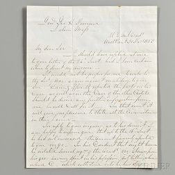 Lee Robert E. (1807-1870) Letter Signed, West Point, 30 December 1853.