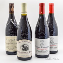 Mixed Chateauneuf du Pape, 4 bottles