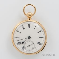 Quarter-repeating 18kt Gold Open-face Watch
