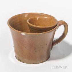 Glazed Redware Shaving Mug