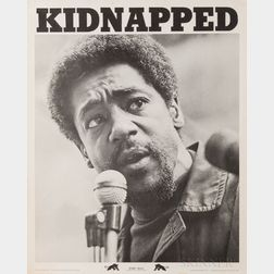 Seale, Robert George (b. 1936) KIDNAPPED,   Bobby Seale Poster.