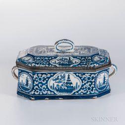 Continental Blue and White Delft Box