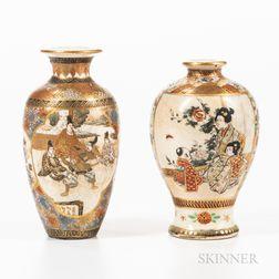 Two Miniature Satsuma Vases