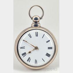 Silver Pair-Cased Verge Watch by J. Johnstone