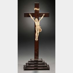 German Carved Ivory Crucifix