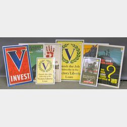Eight WWI Lithograph Posters
