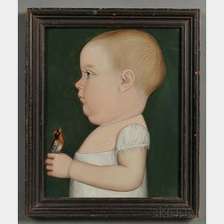 Benjamin Greenleaf (Massachusetts/New Hampshire, 1769-1821) Portrait of George Brackett of Randolph, Vermont, Age 11 Months, Holding a