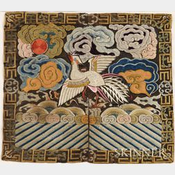 Embroidered Mandarin Square