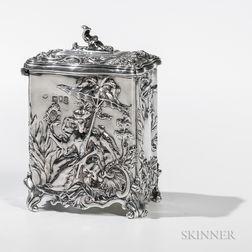 Edward VII Sterling Silver Tea Canister