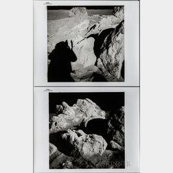 Apollo 14, Boulders Near Cone Crater, Three Photographs.