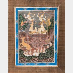Painting Depicting a Jataka Buddhist Tale