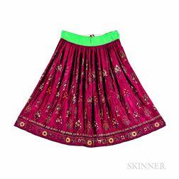 Silk Pulkari Skirt