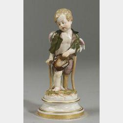 Meissen Porcelain Figure of a Cherub Beggar