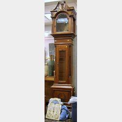 Seth Thomas Georgian-style Carved Oak Tall Case Clock
