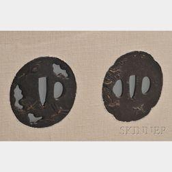 Two Tsuba in a Single Frame