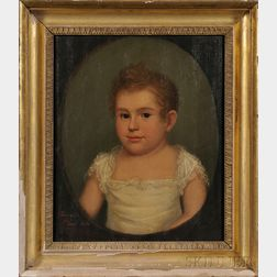 Ethan Allen Greenwood (Massachusetts, 1779-1856)      Portrait of a Young Child.