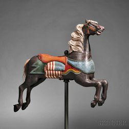 Polychrome Carved Carousel Jumper Horse