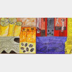 Liliam González (Nicaraguan, 20th/21st Century)      Two Paintings:  Oda al Tololo