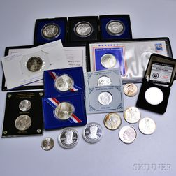 Twenty Mostly Silver Commemorative Coins