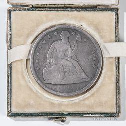 Seated Liberty Dollar Inscribed to William H. Dixon, 24th Virginia Cavalry Regiment