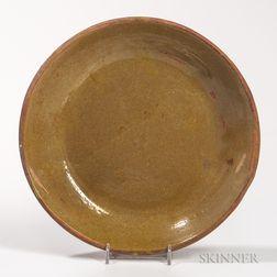 Glazed Redware Plate