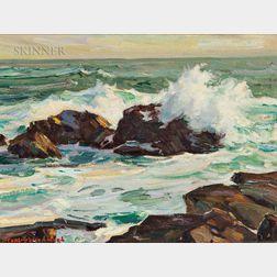 Stanley Wingate Woodward (American, 1890-1970)      Evening Sea