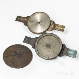 Two Heisely Surveyor's Compasses