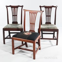 Three Mahogany Side Chairs